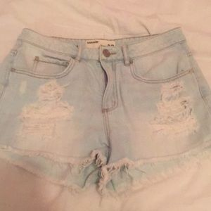 Average to good quality Jean shorts light wash.